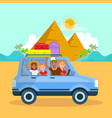 family vacation in egypt travel postcard vector image