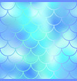 fantastic blue mint fish skin pattern vector image vector image
