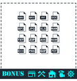 File extensions icon flat vector image vector image