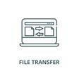 file transfer line icon linear concept vector image vector image
