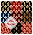 Fleur-de-lys french royal seamless pattern vector image vector image