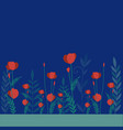 flowery background simplified and stylized vector image vector image