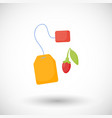 goji berries tea flat icon vector image vector image