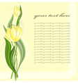 Greeting card with tulip vector image vector image