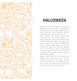 halloween line pattern concept vector image vector image