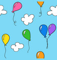 hand drawn balloons vector image