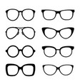 hipster glasses set isolated on white vector image