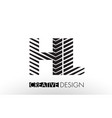 hl h l lines letter design with creative elegant vector image vector image