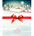 holiday christmas background with a winter vector image vector image