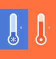 hot and cold temperature - flat design style vector image