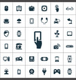 internet things icons universal set for web and vector image