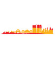 isolated cityscape of madrid vector image