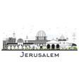 jerusalem israel skyline with gray buildings vector image vector image