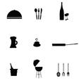 kitchen accessories black vector image vector image