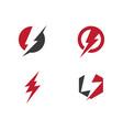 lightning logo template vector image vector image