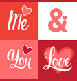 love and valentine day background with red hearts vector image