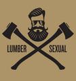 lumbersexual hipster design vector image vector image