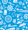 nautical and marine icons seamless background vector image