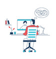 online psychotherapist session vector image