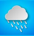 paper art rain icon vector image vector image