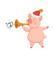 pig symbol 2019 approaching new year playing on vector image