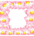 pink indian lotus border vector image vector image