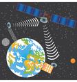 satellite transmit signal vector image