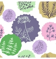 Seamless vintage pattern hand drawn herbs vector image