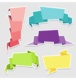 set colorful origami paper banners vector image vector image