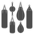 set of with boxing pears vector image