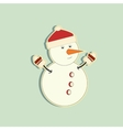 Snowy snowman Festive and Christmas greeting card vector image vector image