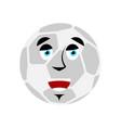 soccer ball happy emoji football ball merry vector image vector image