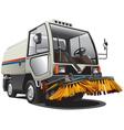 sweeper truck vector image vector image