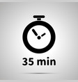 thirty five minutes timer simple black icon vector image vector image