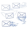 timely messages envelopes vector image vector image