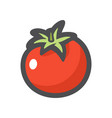 tomato red vegetable icon cartoon vector image