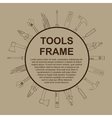tools frame 2 vector image vector image
