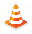 Traffic cone icon vector image vector image