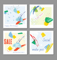 trendy abstract square art templates suitable for vector image vector image