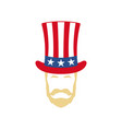 uncle sam portrait 4th july independence day vector image vector image