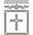 Vintage frame cross vector image