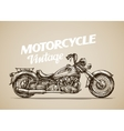 vintage motorcycle hand drawn retro motorbike vector image vector image