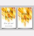 wedding invitation or anniversary card templates vector image vector image
