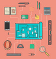 architecture infographic in flat design vector image