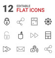 12 open icons vector image vector image