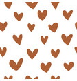 abstract hearts simple pattern seamless vector image