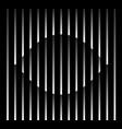 abstract unusual eye sign logo on geometric black vector image vector image