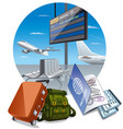 airport arrival departure vector image vector image