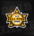 all star game sport emblem logo in the shape