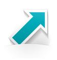 arrow icon paper vector image vector image